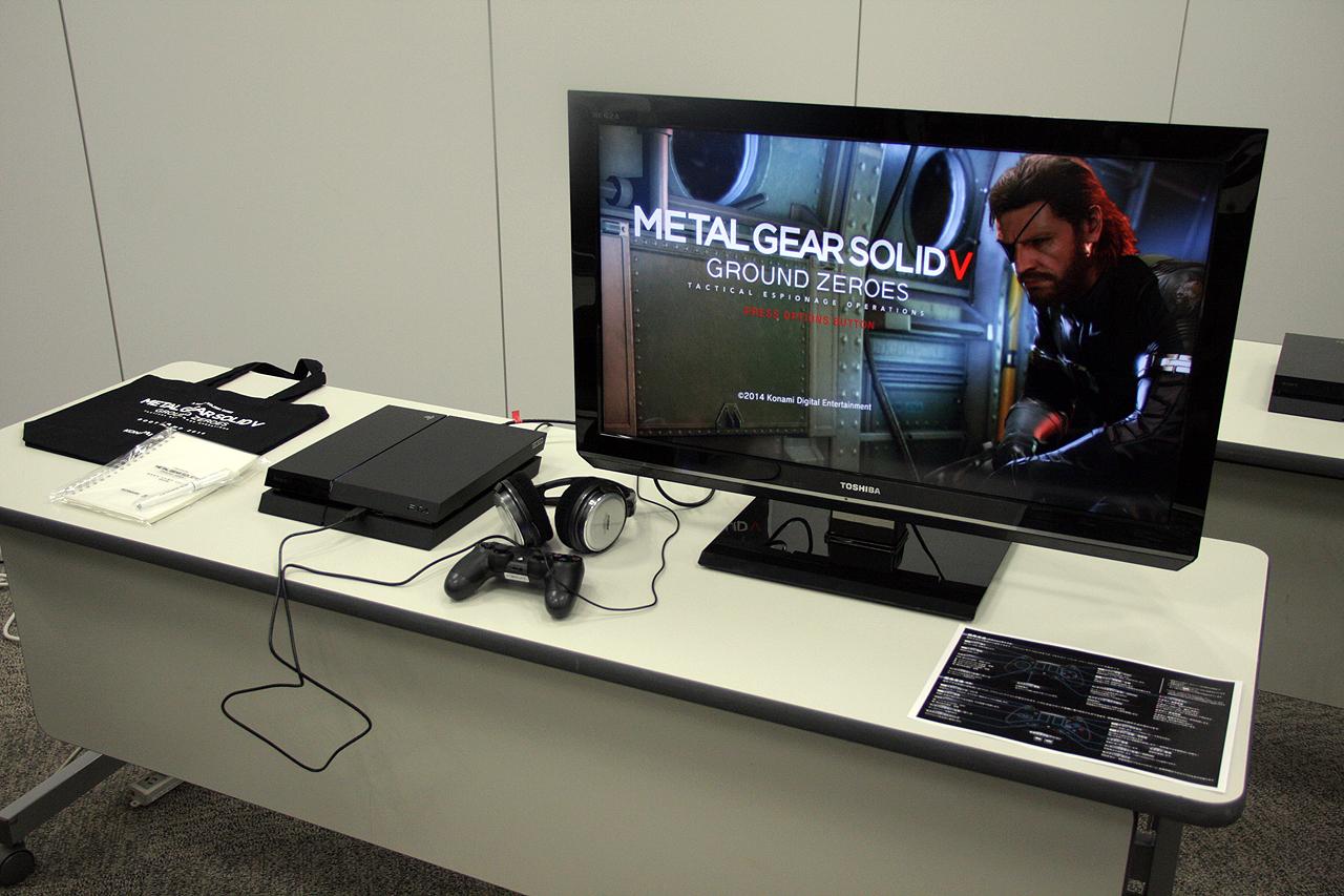 体験会「『METAL GEAR SOLID V: GROUND ZEROES』BOOT CAMP 2014」では、1人に1台のPS4が設置され、存分にプレイできるようになっていた