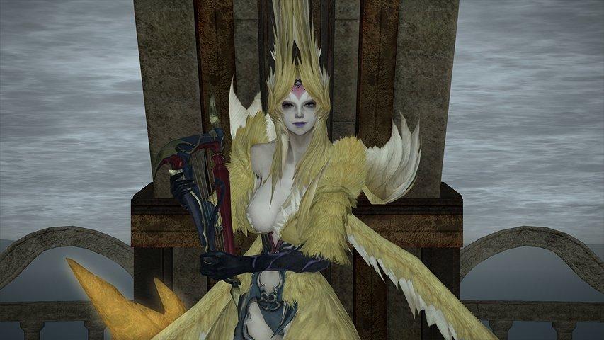 シリウス大灯台のボス「セイレーン」。彼女の攻撃がかなり凶悪だったため、難易度が緩和される