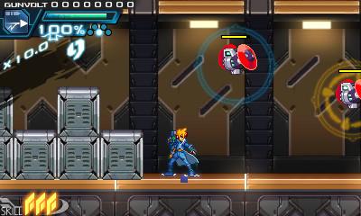 ロックオン雷撃を応用すると、複数の敵をロックオンして同時に電撃を放ち撃破できる。スコアアタックの重要なテクニック
