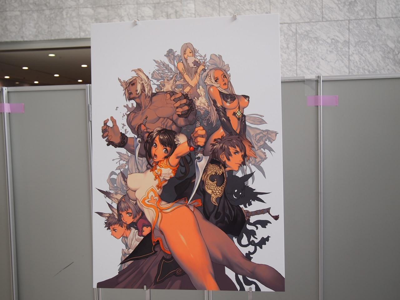 会場にはコンセプトアートなどが展示され、来場者の目を楽しませていた