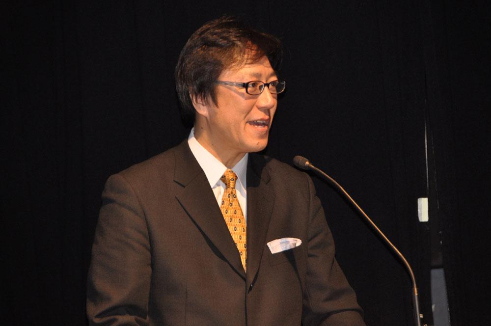 タカラトミーアーツ常務取締役の森岡俊広氏
