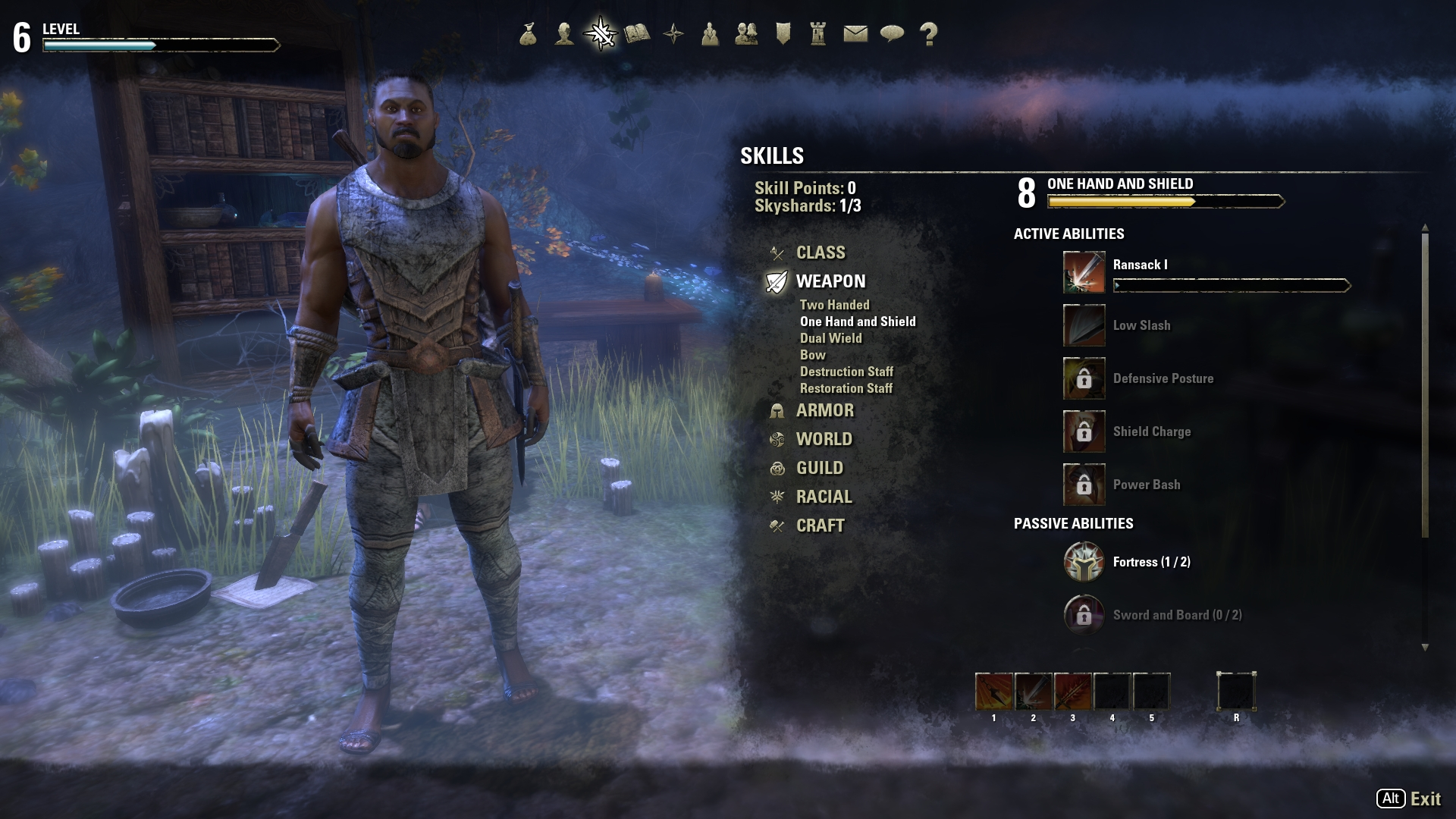 Dragonknightでのプレイ。鎧は重装のものに