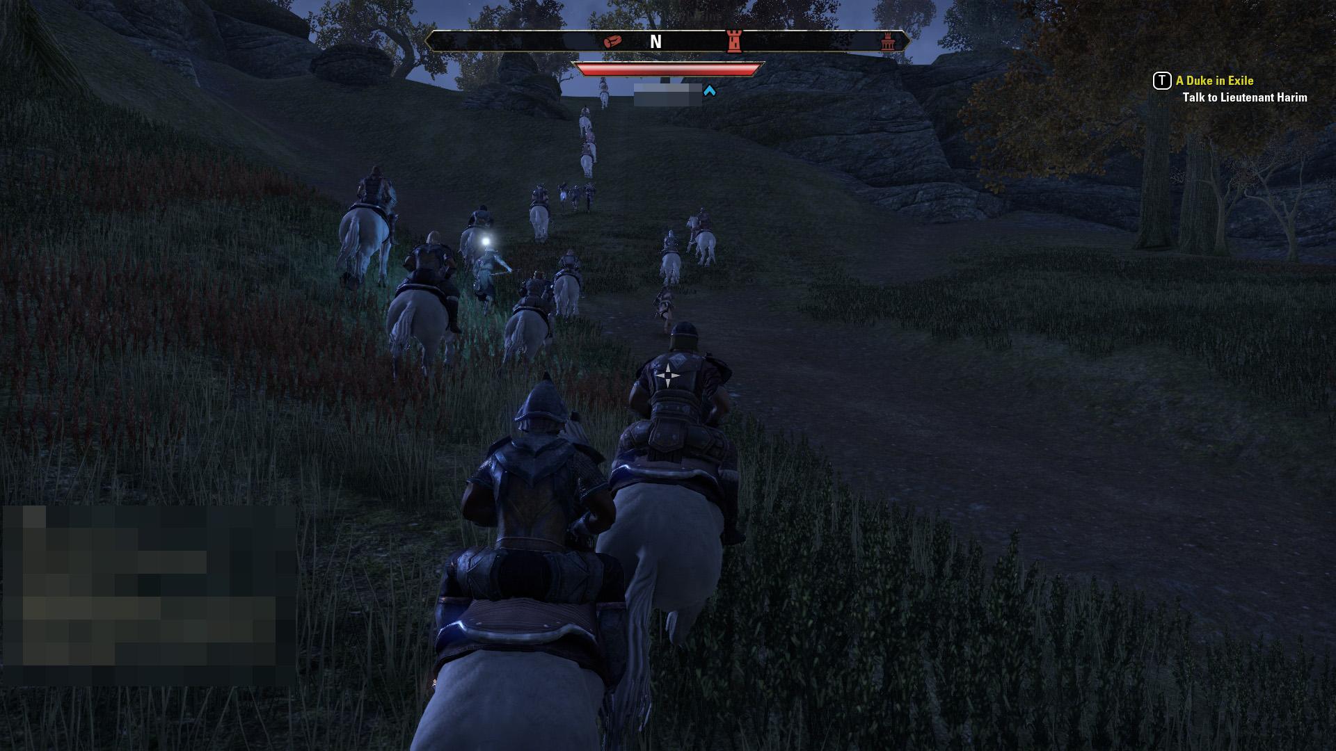 集団で馬に乗って進むのは楽しい