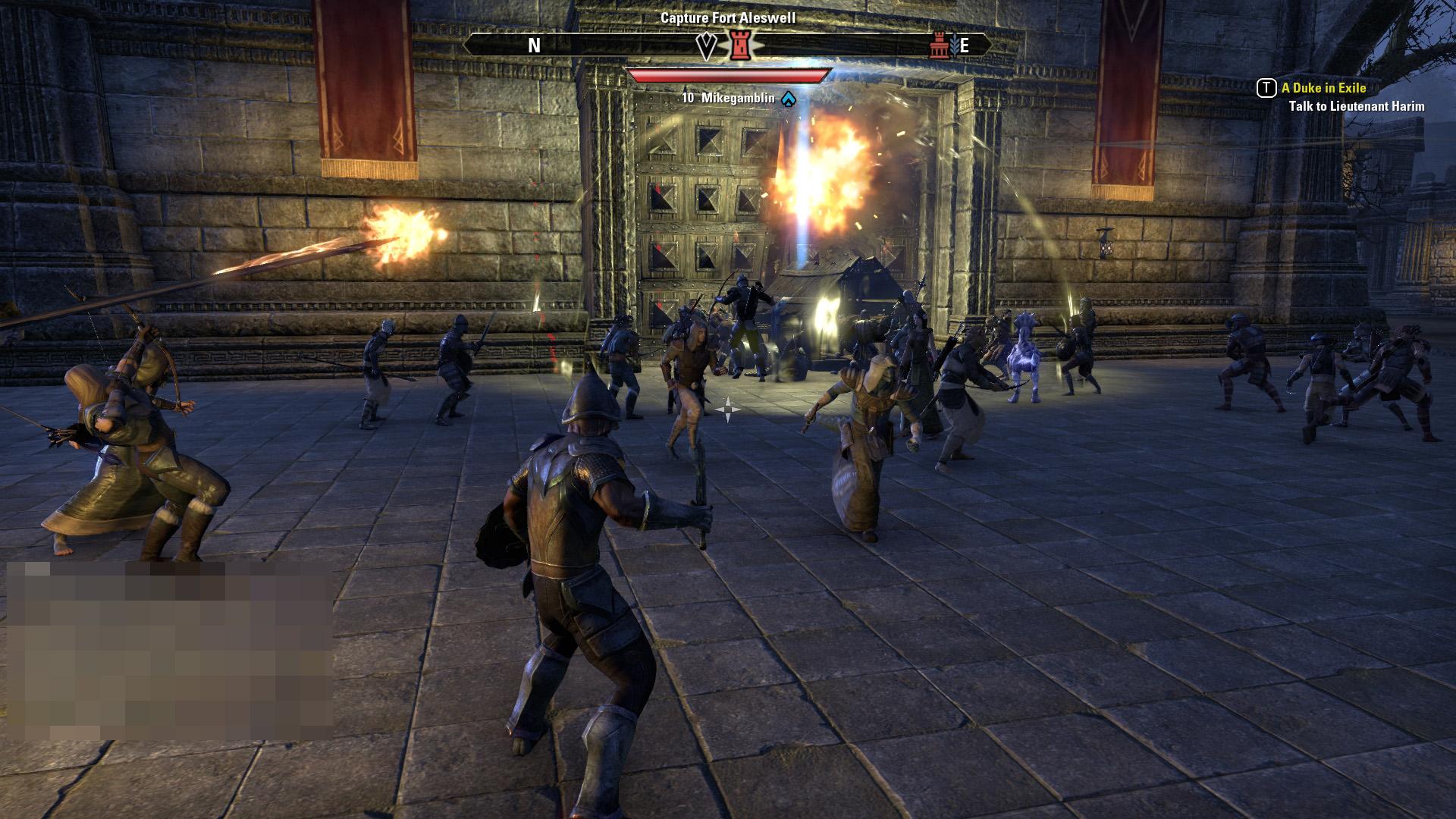 前回も体験した砦への攻撃。現在のルールだと、攻めやすく守りにくい印象がある