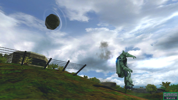 小さな岩を片手で投げるメイン射撃。投げるまでの動作が速いので、けん制攻撃として積極的に使っていくといいだろう