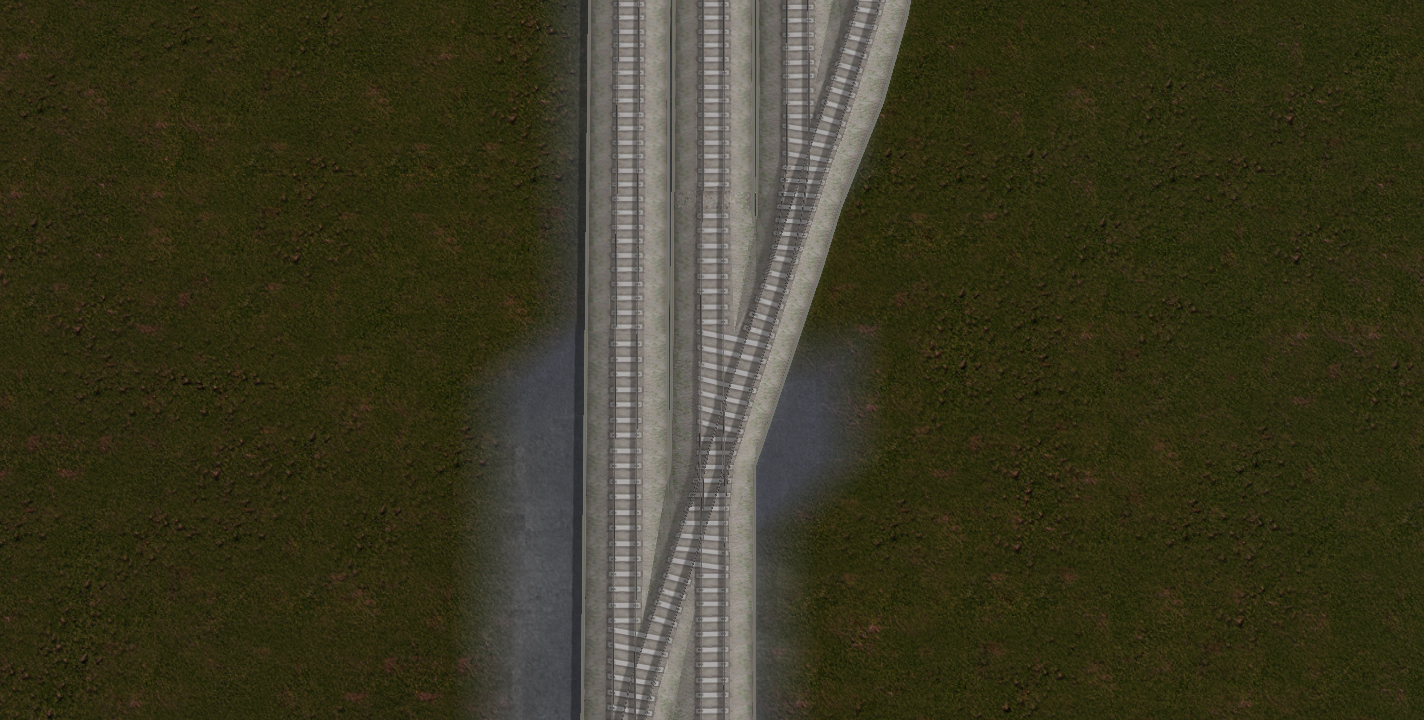 パンタグラフがエディット可能、線路分岐パーツも追加