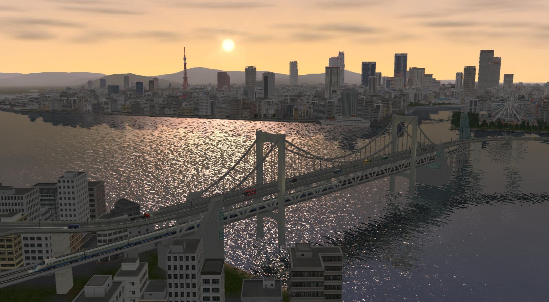 「宵明けの大都」。大規模な埋立事業と交通網の整備が進んだことにより、政治経済の中枢都市として大きな発展を遂げてきた街を、さらに発展させる