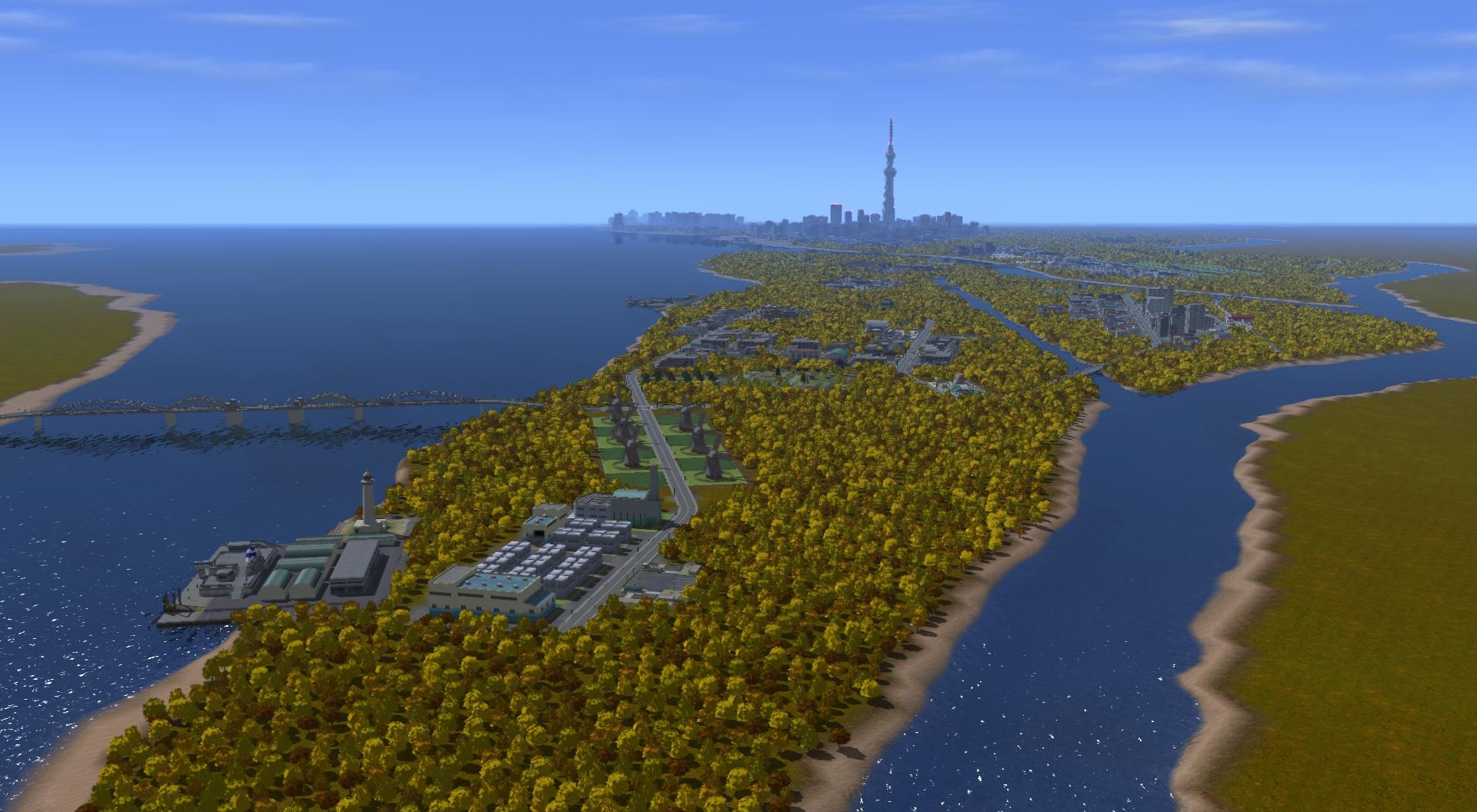 「夕染めの水都」。昔ながらの水路や運河を残したまま開発が進められてきたため、交通網の整備が遅れている。なるべくこれまでの方針を維持しつつ、経済的な発展を促していく