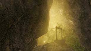 """【秘境B】:(難易度:★★★☆☆) <br class="""""""">・巨大鉱山の西に位置する<br class="""""""">・謎の光源はどこから来るものなのか<br class="""""""">・すぐ下には大規模な滝と川が流れる<br class="""""""">・グライダーが君を助けるだろう"""