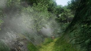 """【秘境C】:(難易度:★☆☆☆☆) <br class="""""""">・全体が霧に包まれた島<br class="""""""">・紅葉の樹木を見つけよbr・大岩が道を塞ぐその先にある"""
