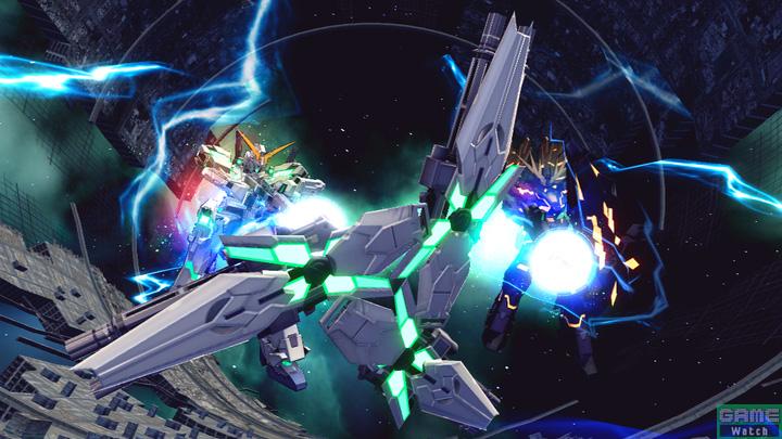 バンシィ・ノルンと共に格闘攻撃を行ない、最後は2機のユニコーンガンダムが横並びになり、敵を目掛けてビーム・マグナムを発射する
