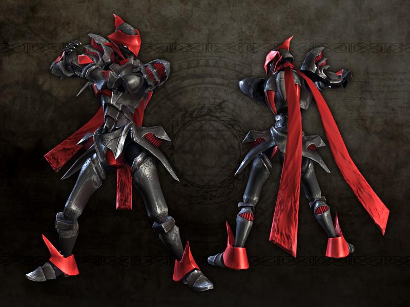 ナイトブレイザーのコスチューム「焔の黒騎士の法衣」
