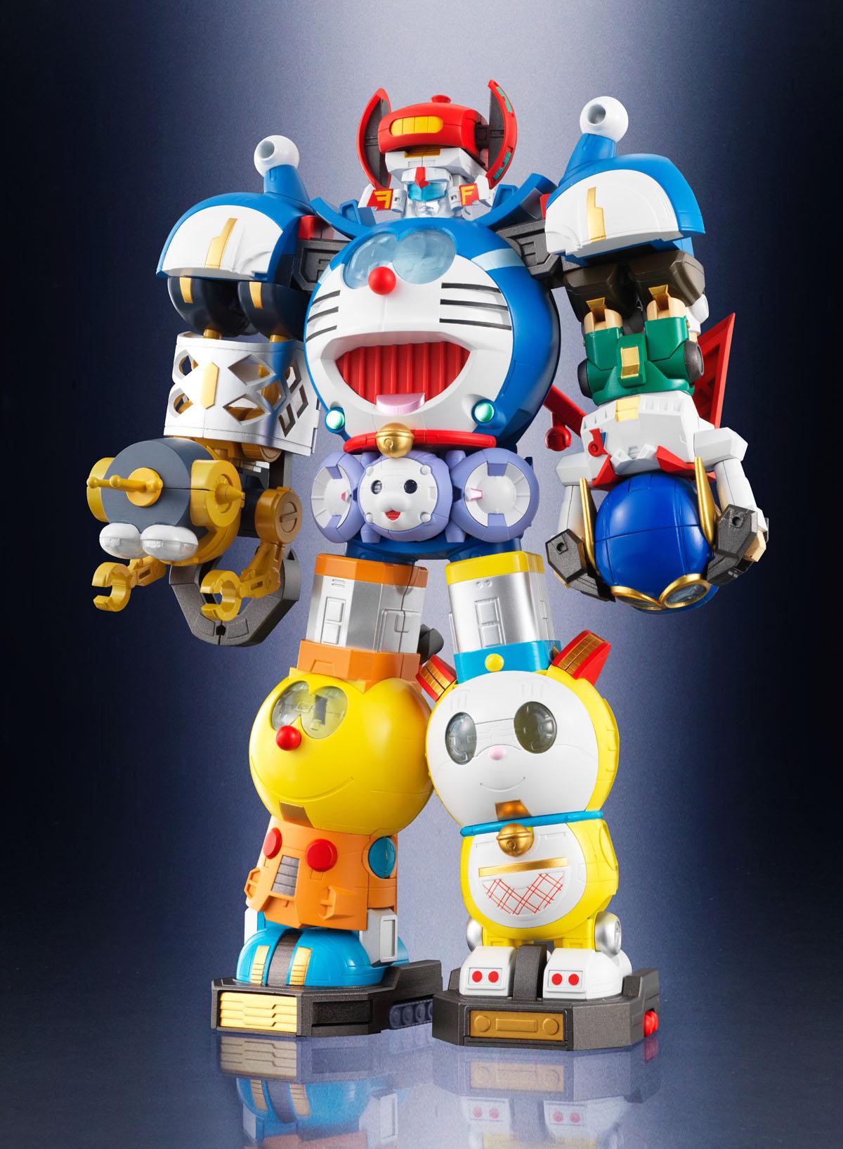 6体のロボットが合体。それぞれのロボットのアレンジが楽しい