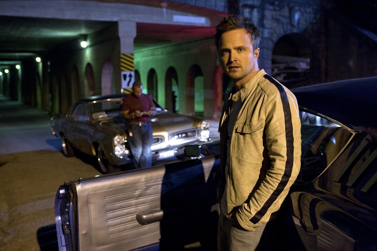 天才的なドライバー、トビーを演じたアーロン・ポール。アメリカのテレビドラマ「ブレイキング・バッド」で人気を得た
