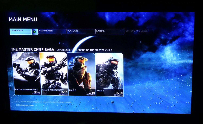 これが「マスターメニュー」。「Halo」全4タイトルのすべての機能にここからアクセスすることができる