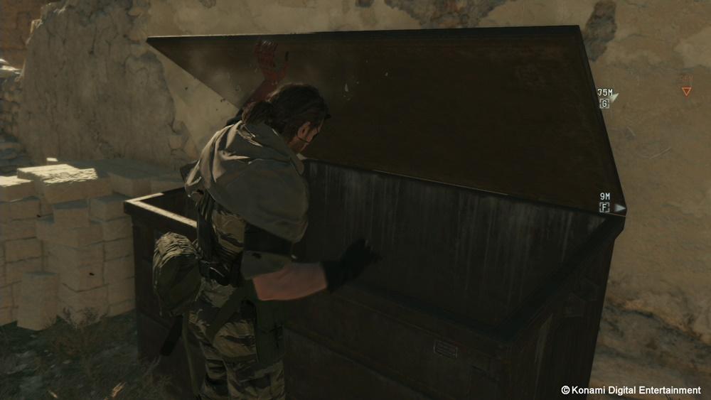 ゴミ箱に隠れて敵を待ちぶせもできる