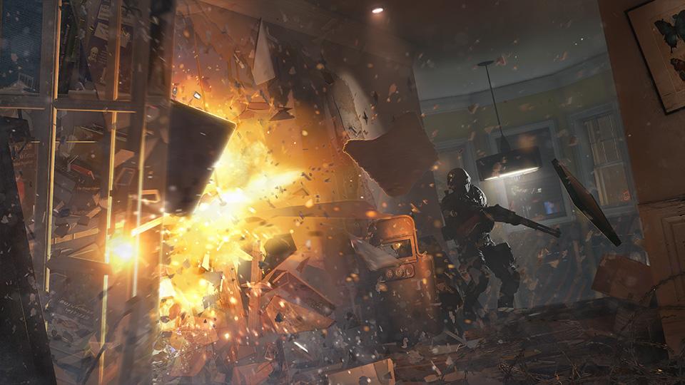 """本作で非常に重視されたというのは""""破壊""""の要素。特殊部隊ならではの突入用アイテムの数々で新たな道が開けていく"""