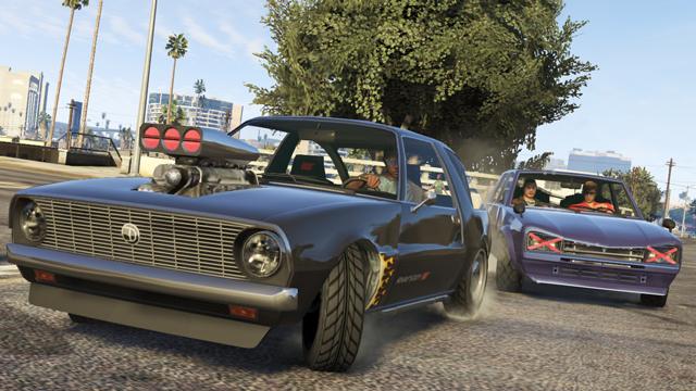 新登場の車種、ラプソディやウォーレナーがロスサントスの道で暴走する