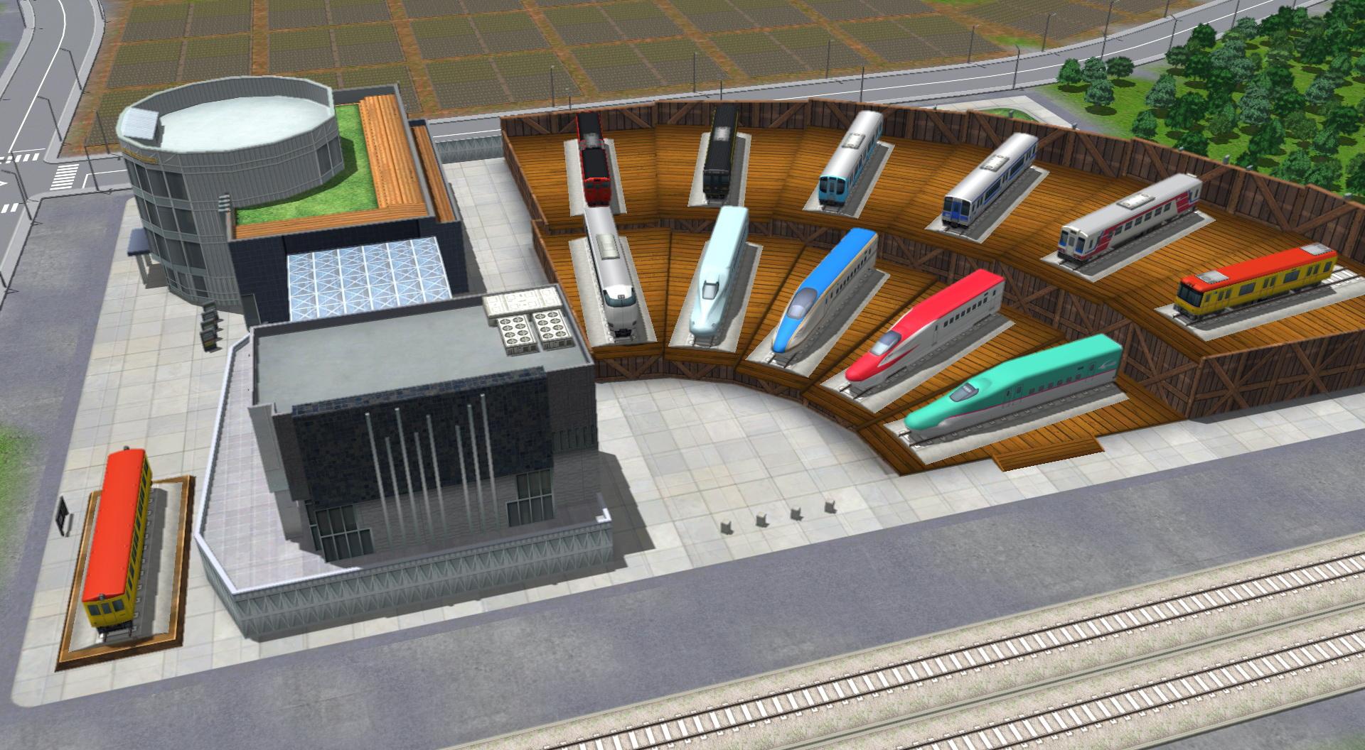 「A列車で行こう9 Version3.0プレミアム」に新規収録された車両を展示可能な、「ミニ鉄道博物館」を新設することができる