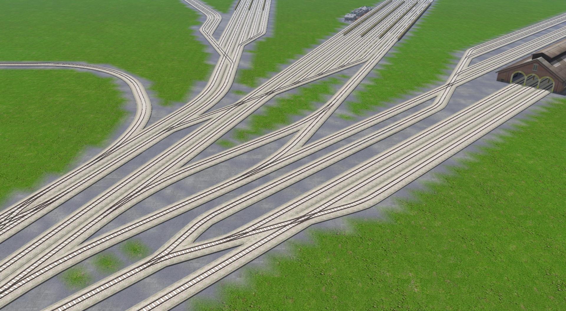 線路分岐パーツが追加された。駅や操車場周りの線路を整備することで、よりスッキリし街作りが可能となる。「スリップスイッチ」を「Version3.0」では追加搭載。今までの「A列車で行こう9」ではできなかった、融通の利くポイント設置が可能となる