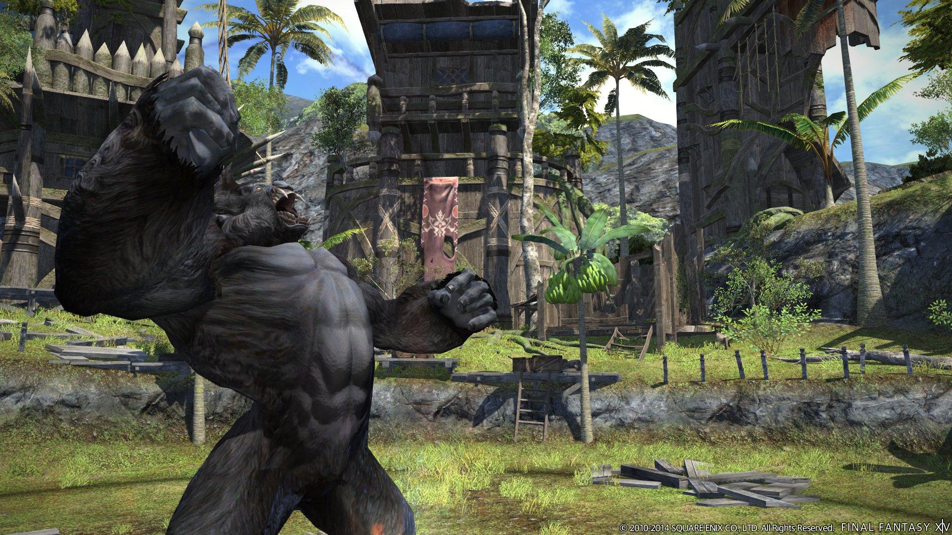 こちらはキングコングのような大きな両腕が特徴的なモンスター