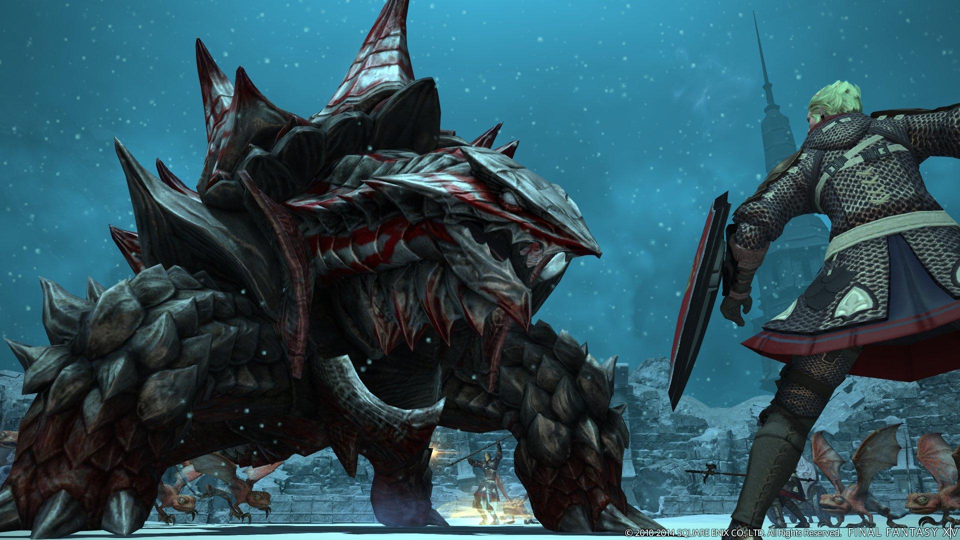 堅い外殻に身を包んだドラゴンとの死闘