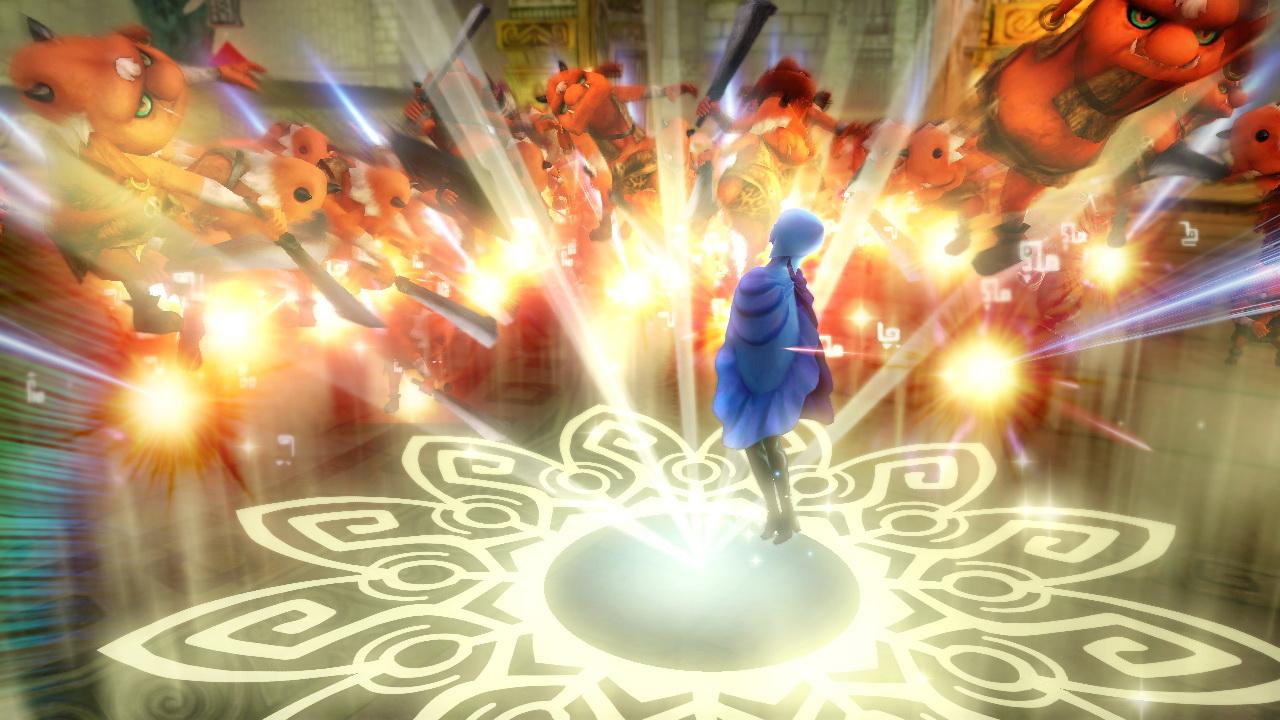 ファイの武器は「天剣」。踊るような動きからの広範囲攻撃や、ファイ自身が剣となり攻撃することもある。「ゼルダの伝説 スカイウォードソード」で勇者が「女神の剣」に宿したという3つの聖なる炎の力も操ることができる