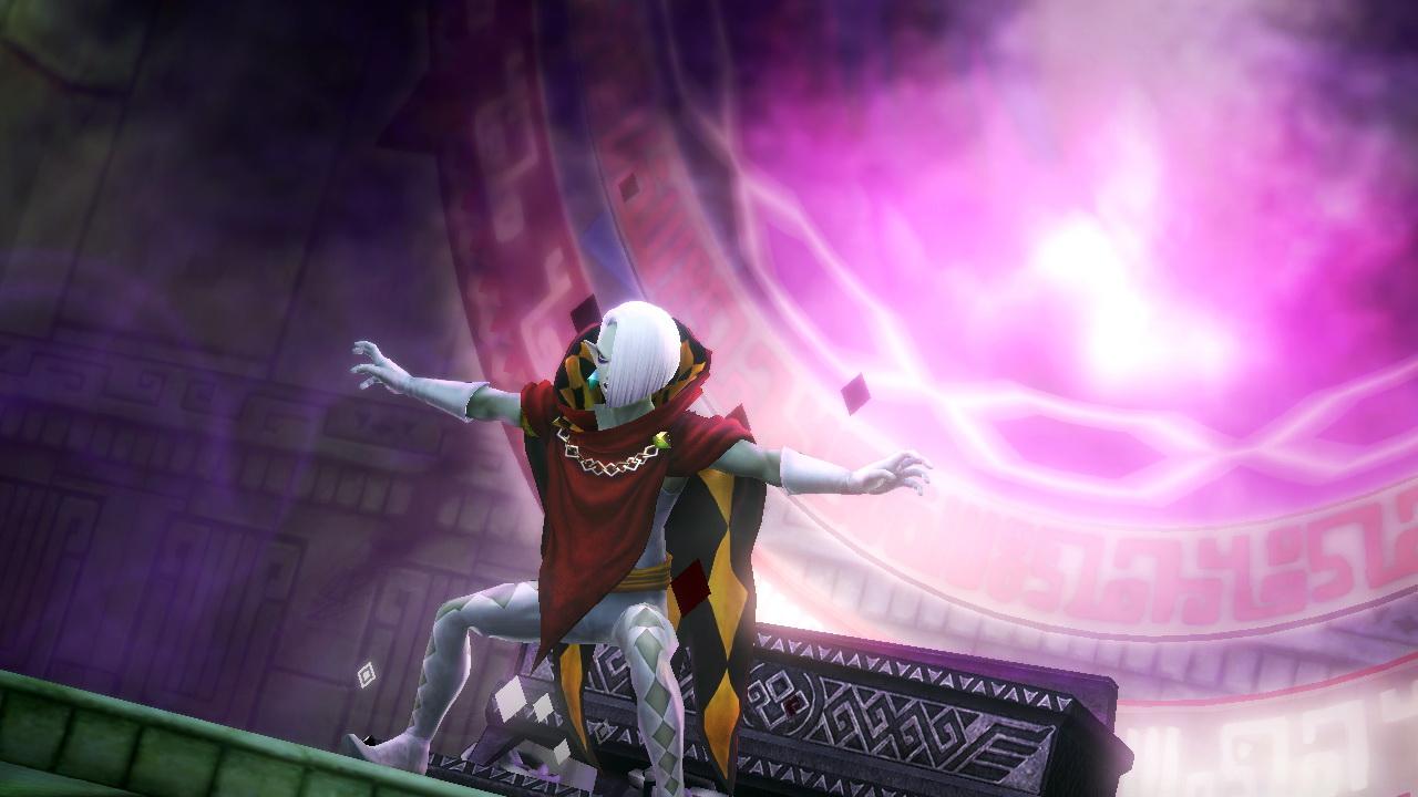 ギラヒムは魔力を増幅させ、この「封印の地」に封じられた魔物を復活させようと試みる