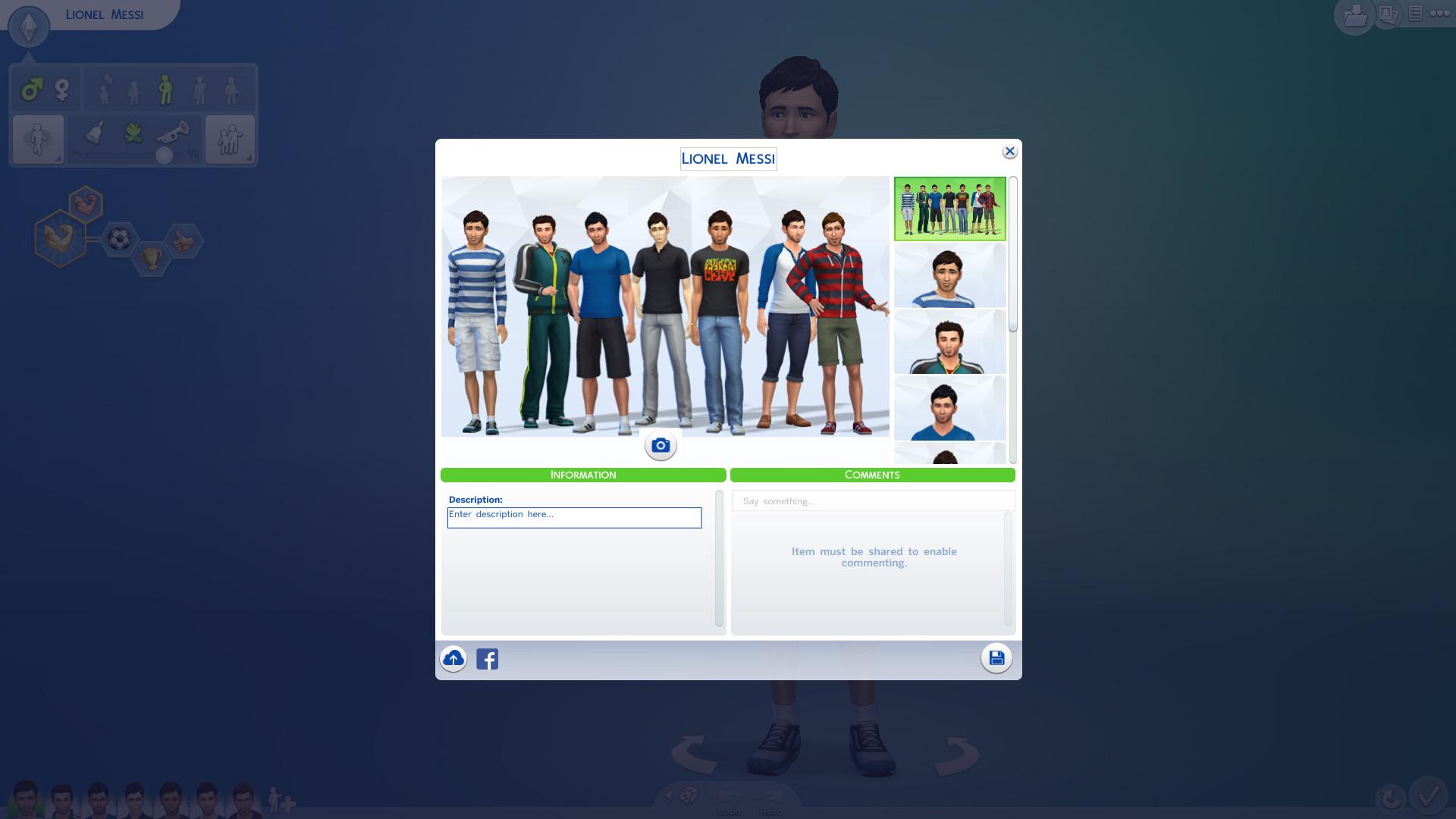 コミュニティのライブラリで、「Messi」を検索したところ、自分が作ったのも含め7人も出てきた