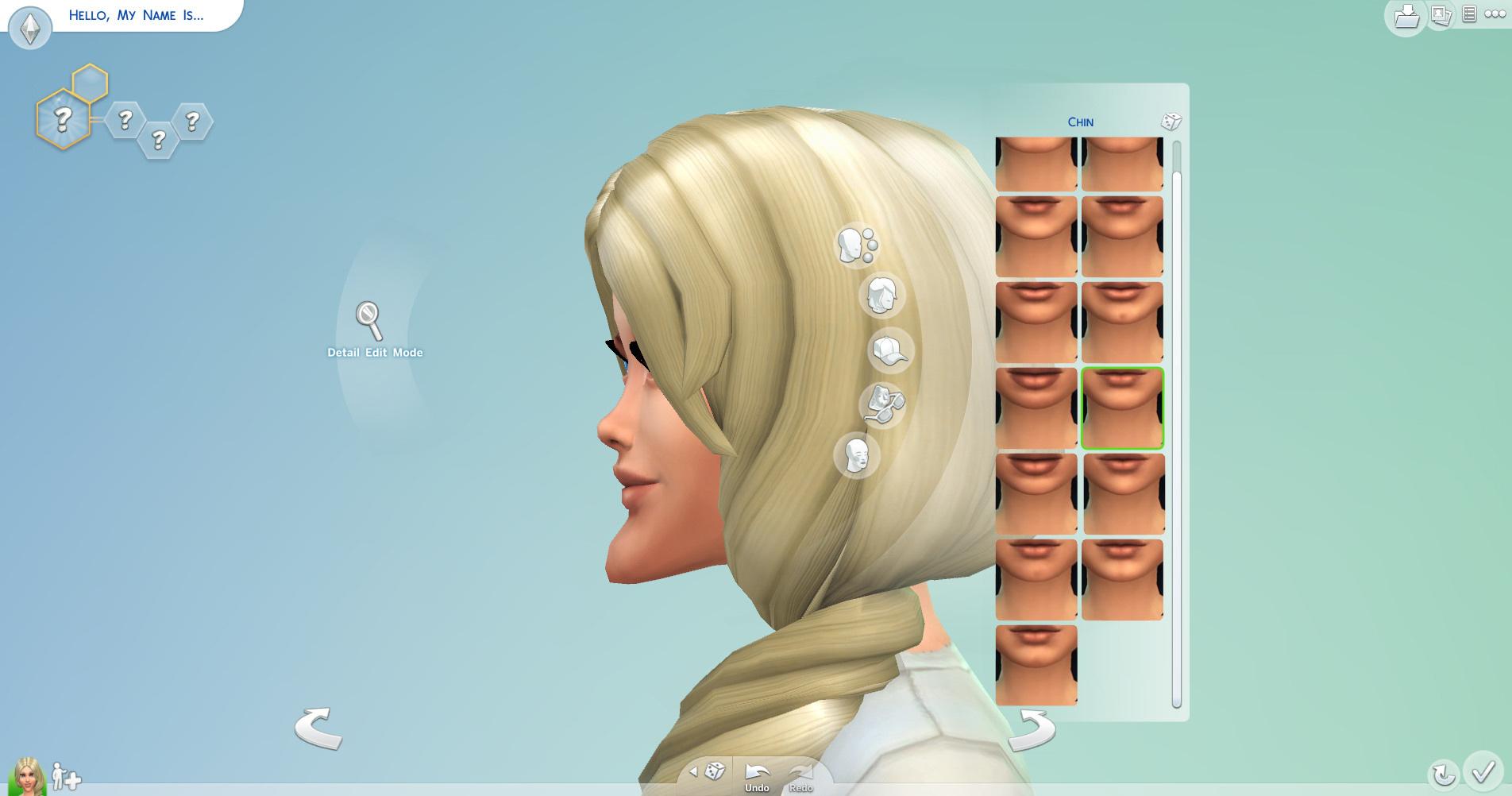 あご、額、頬のパーツを替えたあと微調整をして、あごが小さくフラットなアニメの造形に近づけていく