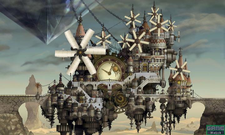 砂漠の国ラクリーカ。前作に登場した都市も登場するが、左上にあるモノは前作になかった!?