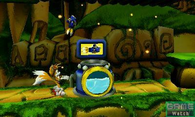 """2本の尻尾を使って空中を滑空するホバリング飛行はもちろん、専用スペシャルアクションとして、Wii U版同様、爆弾攻撃で離れたエネミーに攻撃することができる。特殊アクションはテイルスが発明した、専用メカ""""シーフォックス""""。""""シーフォックス""""を遠隔操作して、ステージ中に隠された水槽の中も探索することが可能になる"""