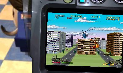 「ムービング筐体」の設定ON時は背景の変更も可能。TYPE 1では懐かしいゲームセンターの中を、TYPE 2ではビル街上空を表現している