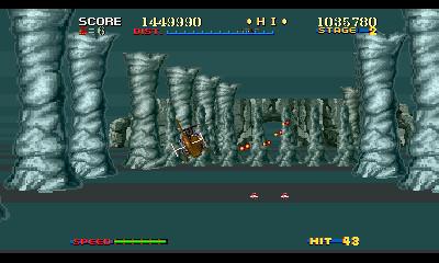 敵の出現パターンや配置はスペシャルモードオリジナルのものに。ビルや洞窟の中、橋の有無など障害物の配置も一部異なる