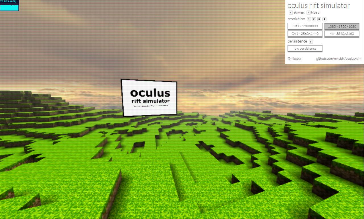 解像度による見え方の違いをシミュレートするウェブアプリ@@link http://vr.mkeblx.net/oculus-sim/ 「Oculus Rift Simulator」@@