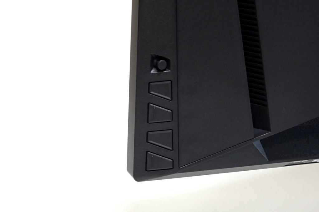 背面、OSD操作ボタン