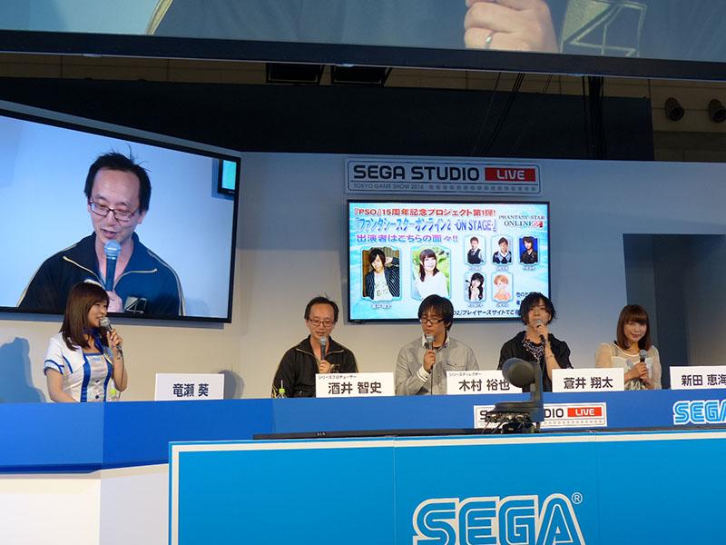 右から新田恵海さんと蒼井翔太さん。2人が登場してからは舞台に関する内容や感想を中心にトークが進められた