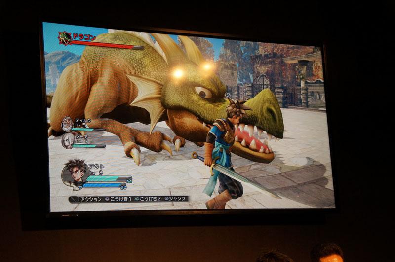 「ドラゴン」の弱点は頭と尻尾。弱点を攻撃し続けるとダウン状態になり、全身が弱点になる