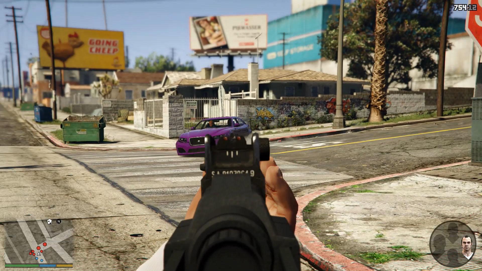 武器のモデリングは全て新規に作られたもの。1人称視点は新しい「GTA」体験をもたらしてくれそうだ