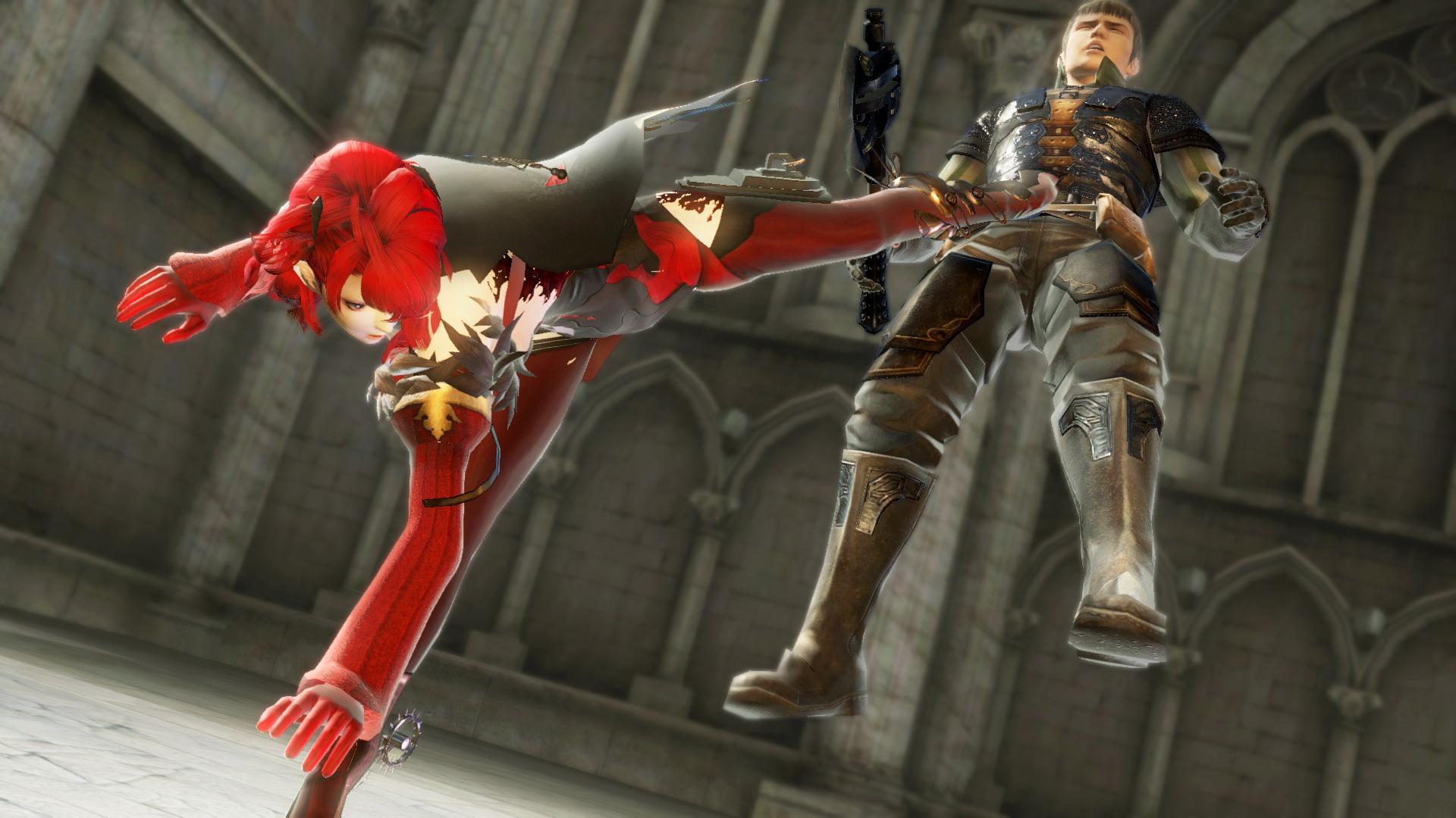 「ヴェルギリエ」は、派生技のキックも多数存在している。その中の1つのステップキックは敵を複数マス後方に吹っ飛ばすことができる
