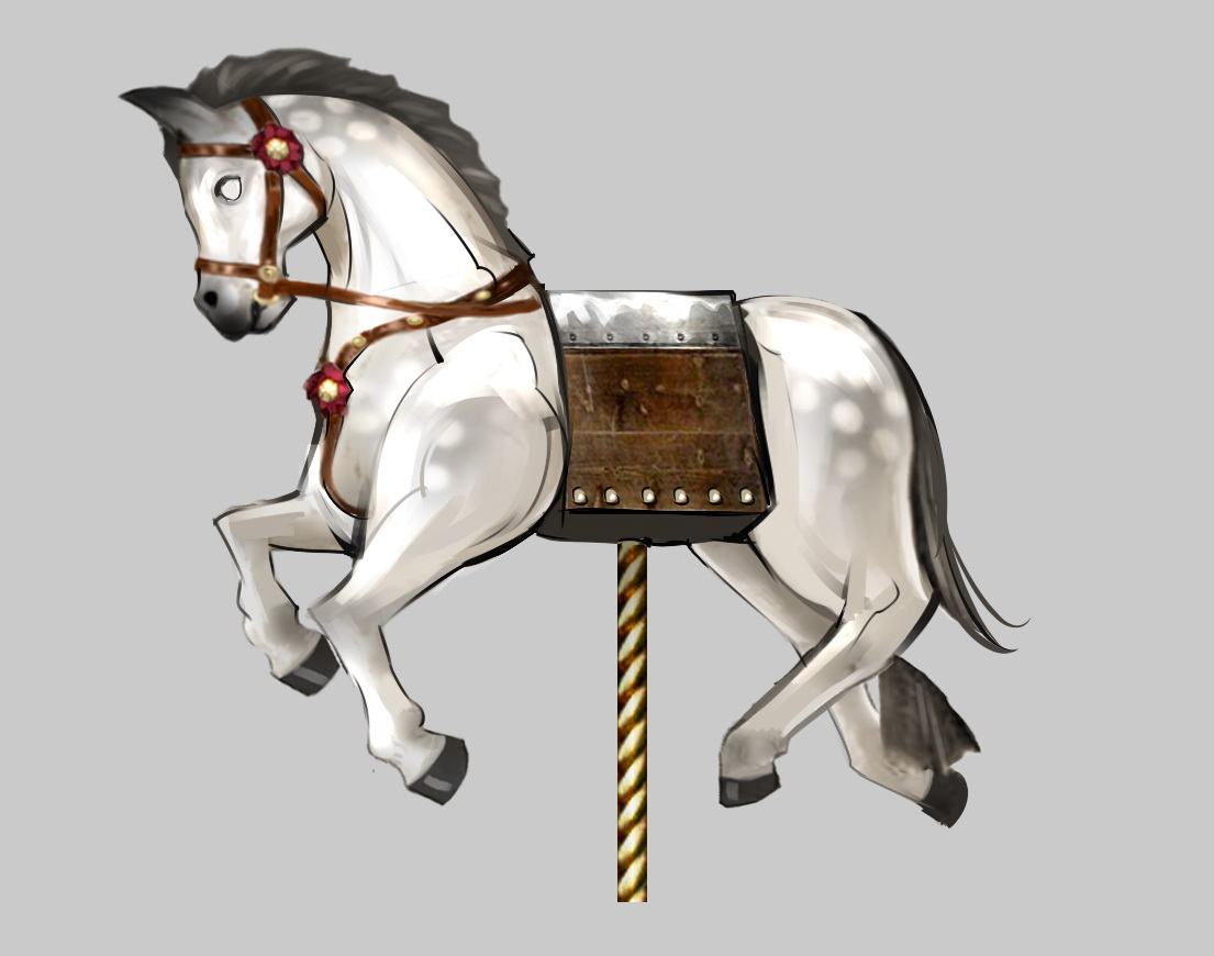 鞍の形状がデルタホースとなっている暴れ馬。デルタホースの悶絶に加えて、ロデオのような動きをした後、キャラを吹き飛ばす(屈辱 床)