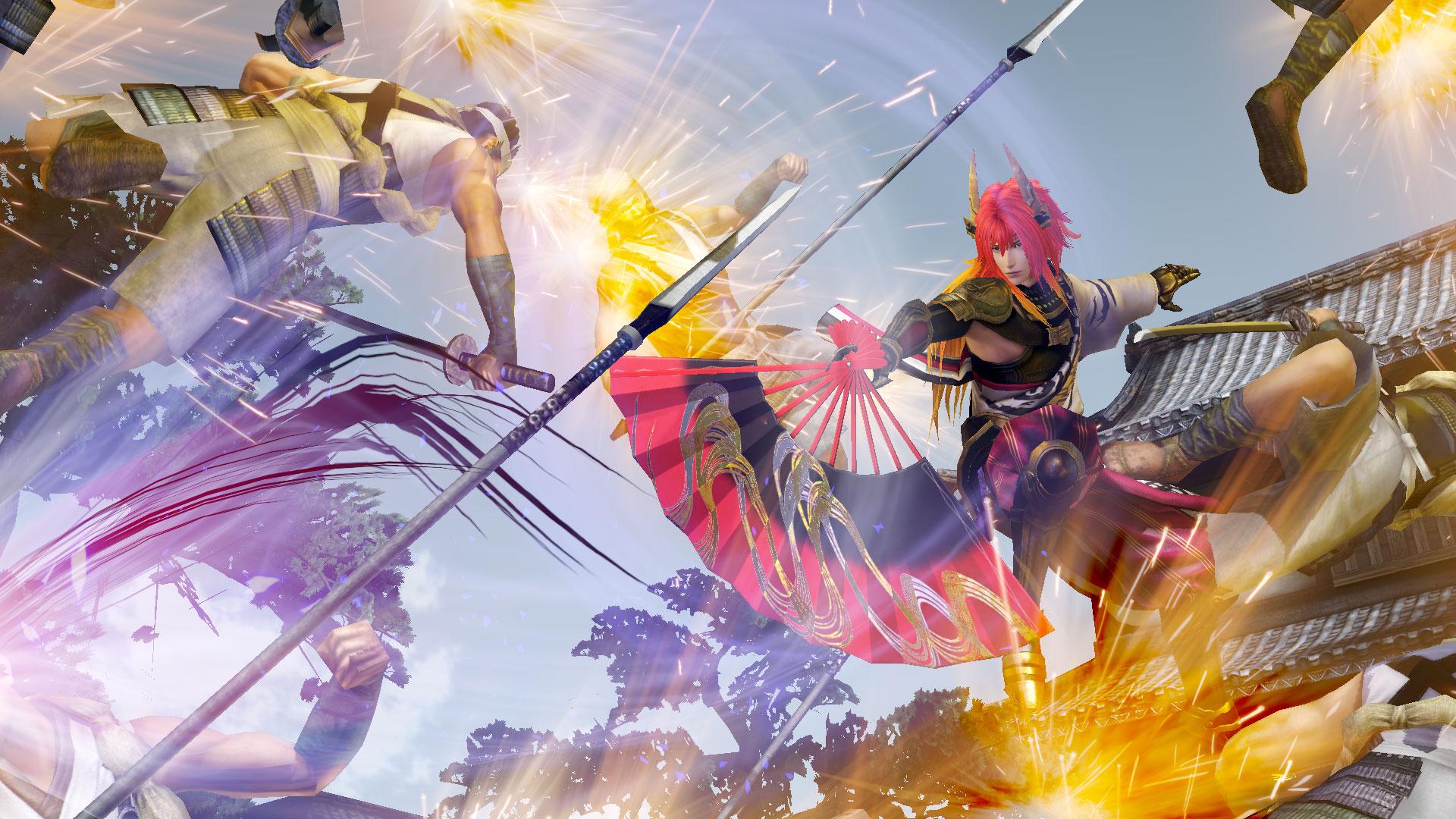 石田三成とエディット武将が装備可能な特典武器。「戦-ikusa-」のMUSIC VIDEOで鈴華ゆうこさんが使用している扇子がモチーフ。装備すると「戦-ikusa-」を聞きながらプレイできる機能が付与される