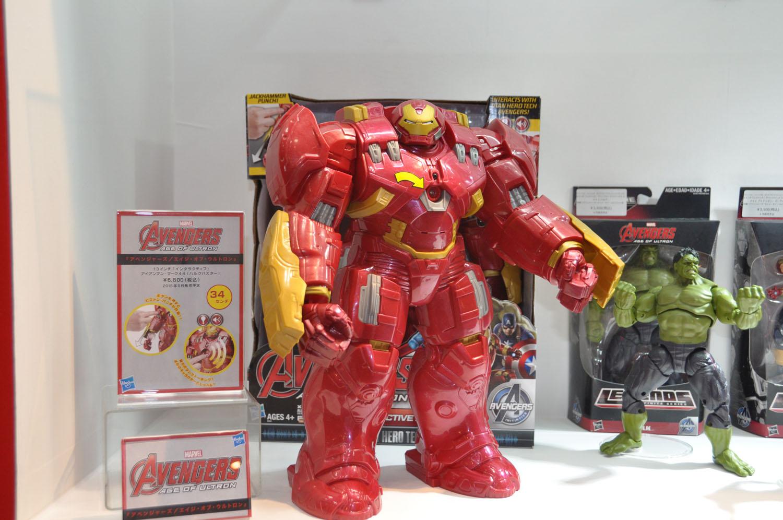 「アベンジャーズ」の続編映画に向けてマーベル関連の玩具も積極的に展開していく。注目は13インチ(約33cm)の「ハルクバスター」。発売日、価格は未定
