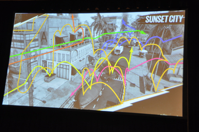 ゲーム要素を突き詰めた「SUNSET CITY」は多彩な移動が可能な、新しいオープンワールドのフィールドを実現した