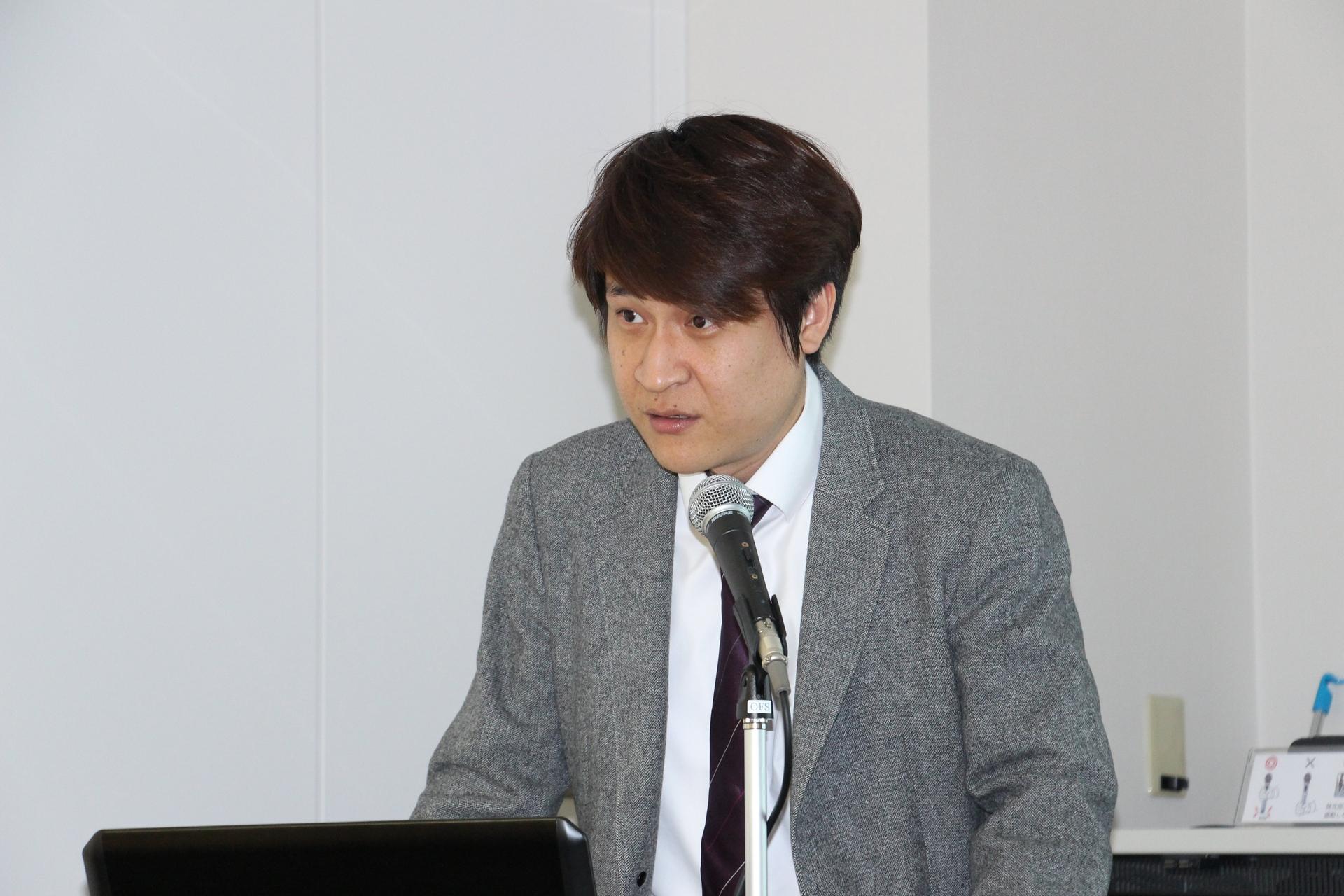 挨拶を行なったエムエスアイコンピュータージャパン代表取締役社長のBrian Kung氏