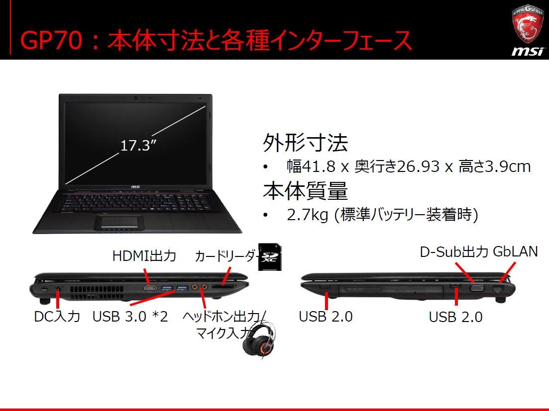 GPシリーズも筐体デザインは従来モデルを踏襲。GPUはGeForce 940Mとなる