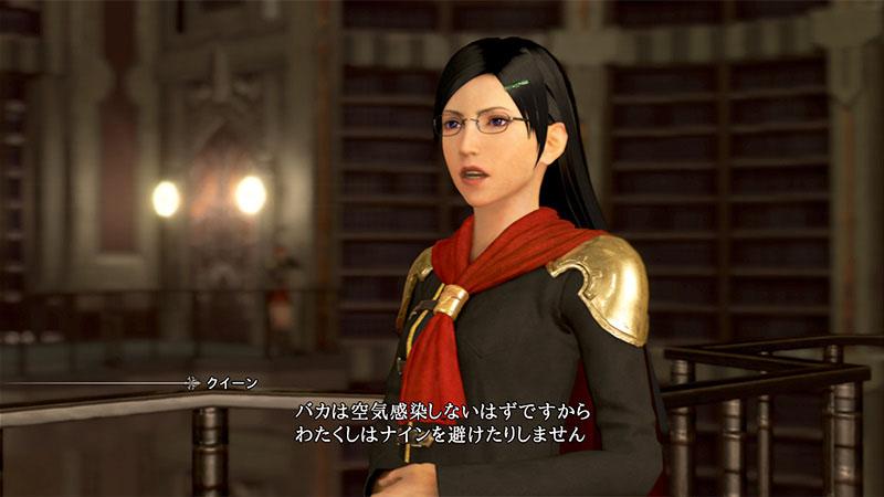 クイーン -Queen-(CV:小清水亜美)。知識豊富な才女。特に魔法の知識に富み、魔法錬成に力を入れている。普段は冷静だが、戦闘時において危機状態に陥ると豹変してしまう。自身を表すかのような、真っ直ぐな鋭い剣を使う