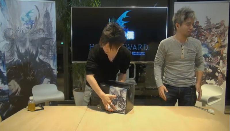 生放送の「開封の儀」で、コレクターズエディションの中身を紹介した