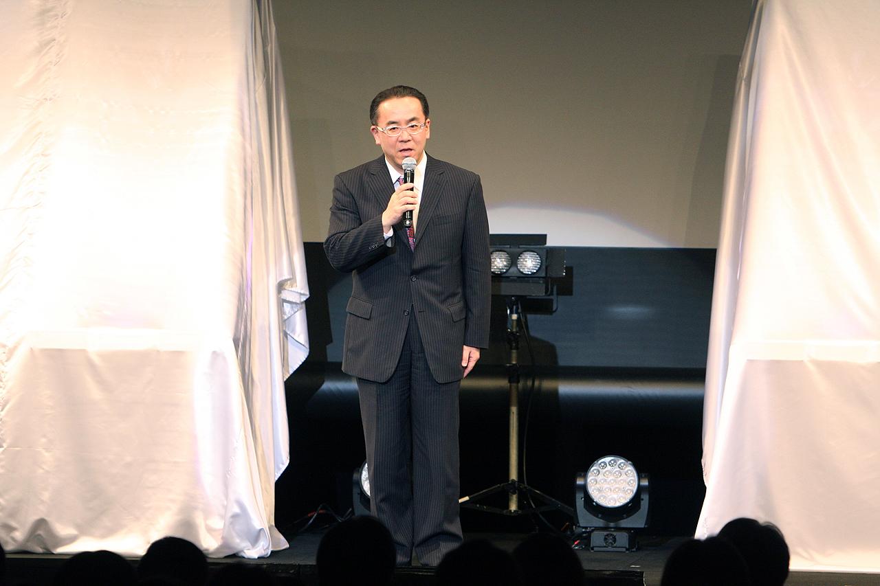 松田洋祐代表取締役社長が冒頭に挨拶