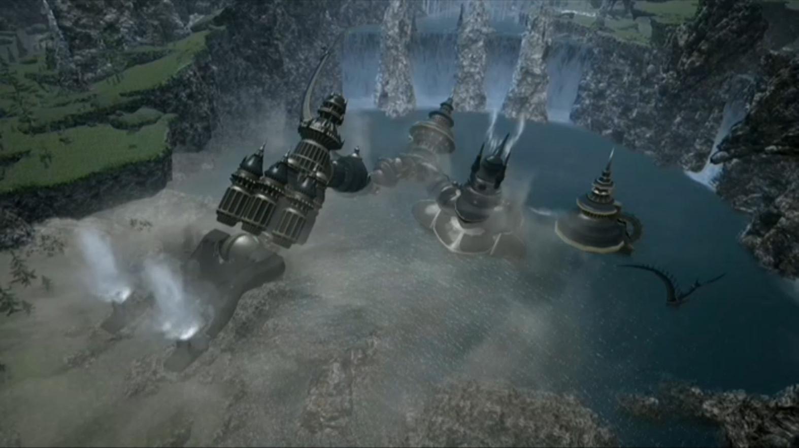 水の中から出てくるアレキサンダー